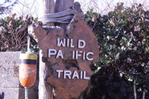 Sign marking the Wild Pacific Trail